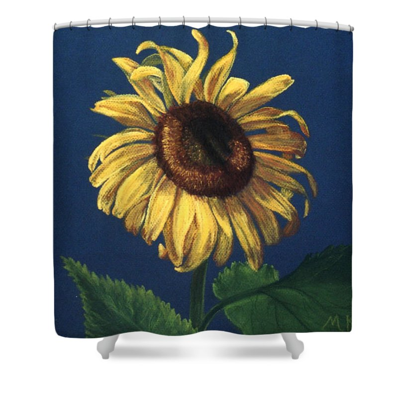 Flower Shower Curtain featuring the painting Sunflower by Melissa Joyfully