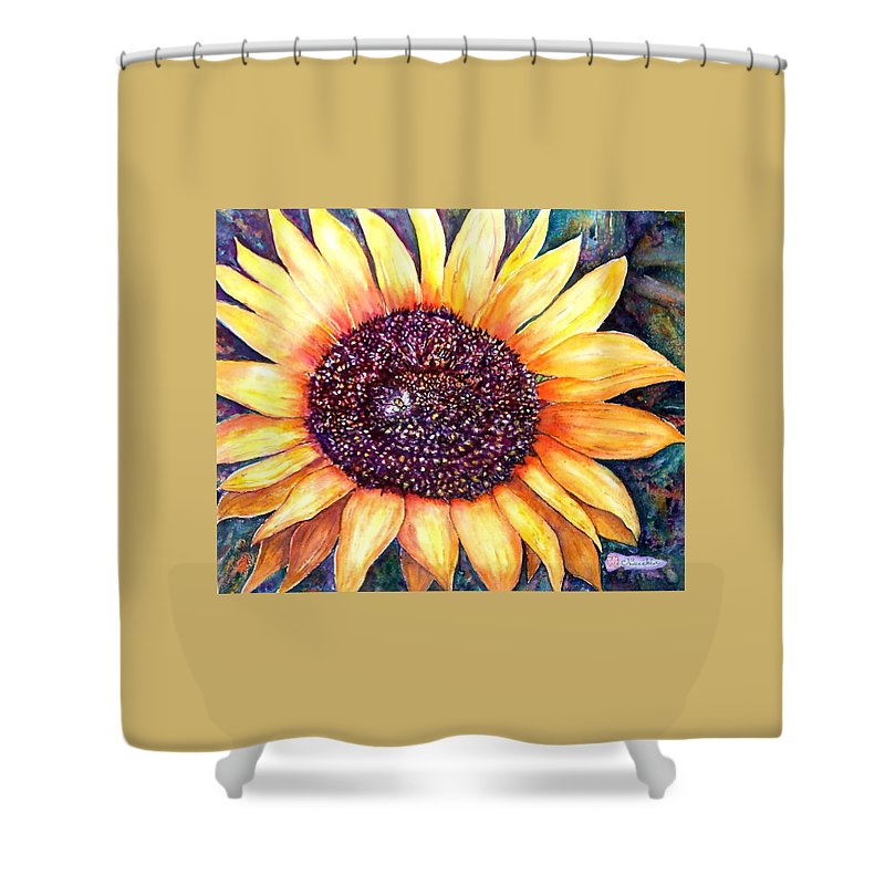 Sunflower Shower Curtain featuring the painting Sunflower Of Georgia by Norma Boeckler