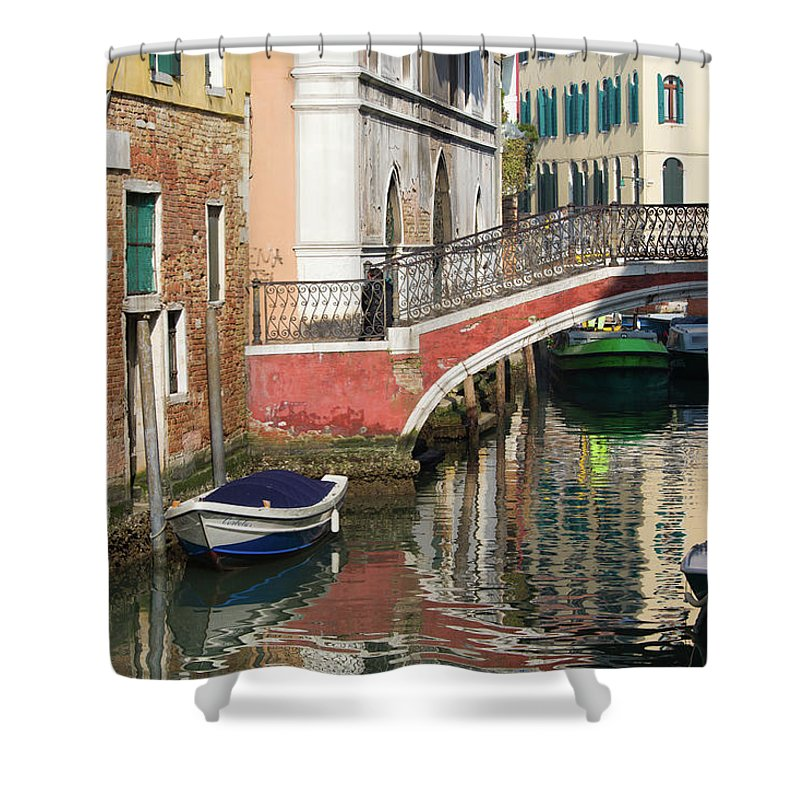 Italy Shower Curtain featuring the photograph Sunny Backwater by Chris Beard