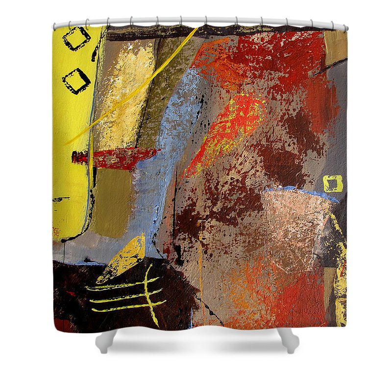 Abstract Shower Curtain featuring the painting Sunny Disposition by Ruth Palmer