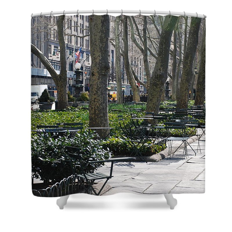 Parks Shower Curtain featuring the photograph Sunny Morning In The Park by Rob Hans