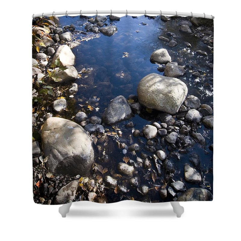 Western Scenes Shower Curtain featuring the photograph Sunny Sierra Stream by Norman Andrus