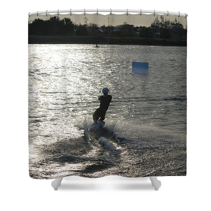 Sun Shower Curtain featuring the photograph Sunny Ski by Rob Hans