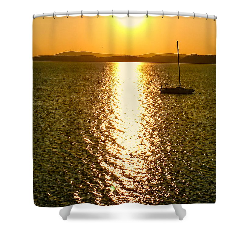 Sunrise Shower Curtain featuring the photograph Sunrise 6 8 17 Malletts Bay by Mark Holden