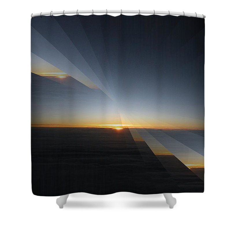 Sunrise Shower Curtain featuring the photograph Sunrise At 30k 4 by Tim Allen