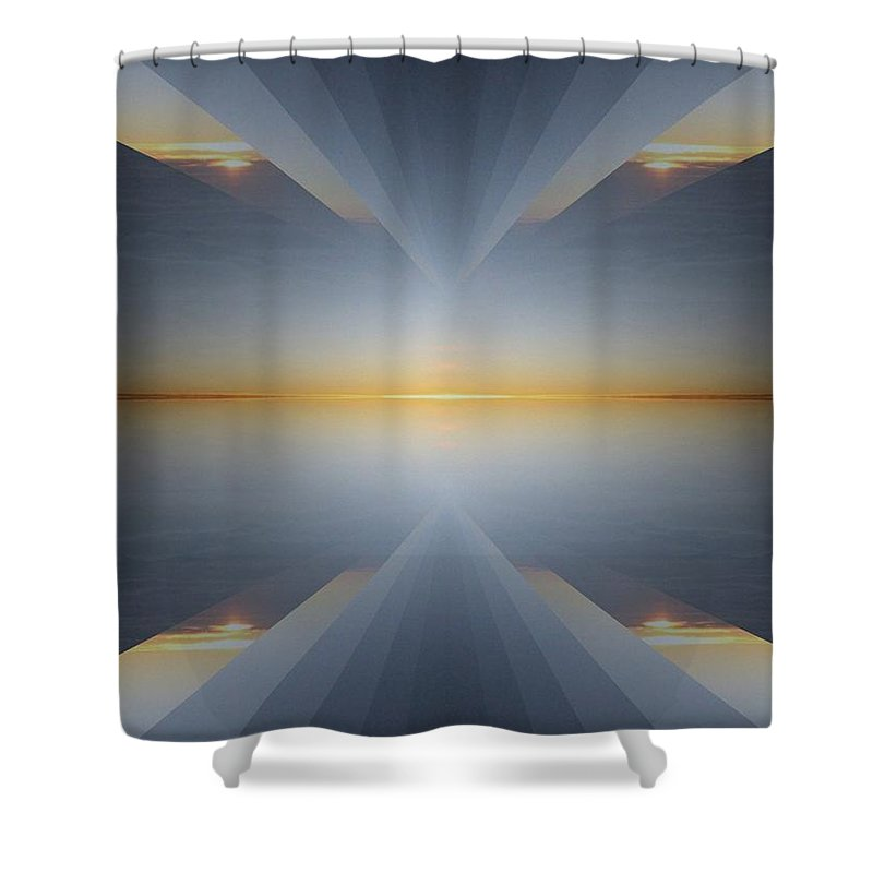 Sunrise Shower Curtain featuring the digital art Sunrise At 30k 5 by Tim Allen