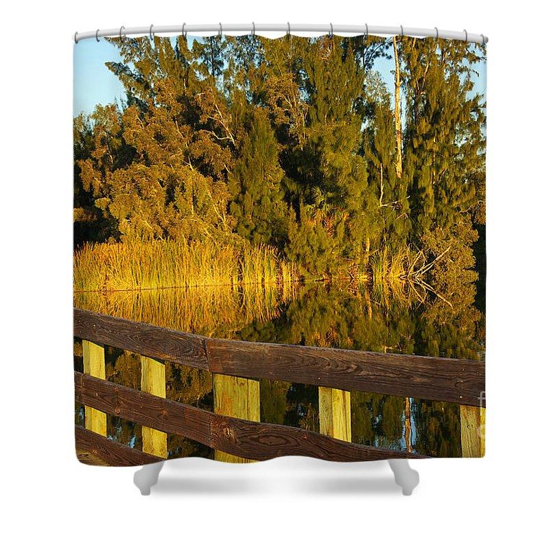 Lake Shower Curtain featuring the photograph Sunrise At A Lake by Zal Latzkovich