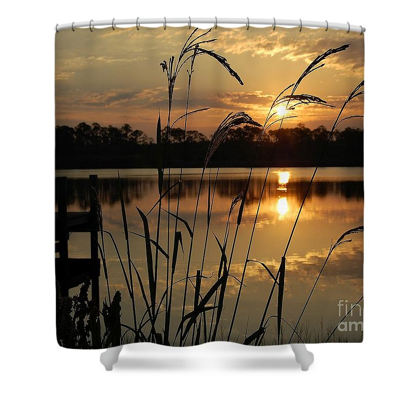 Sunrise Shower Curtain featuring the photograph Sunrise At Grayton Beach by Robert Meanor