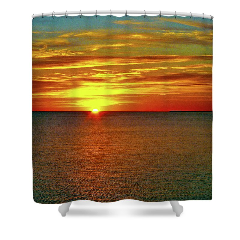 North America Shower Curtain featuring the photograph Sunrise At Matane by Juergen Weiss