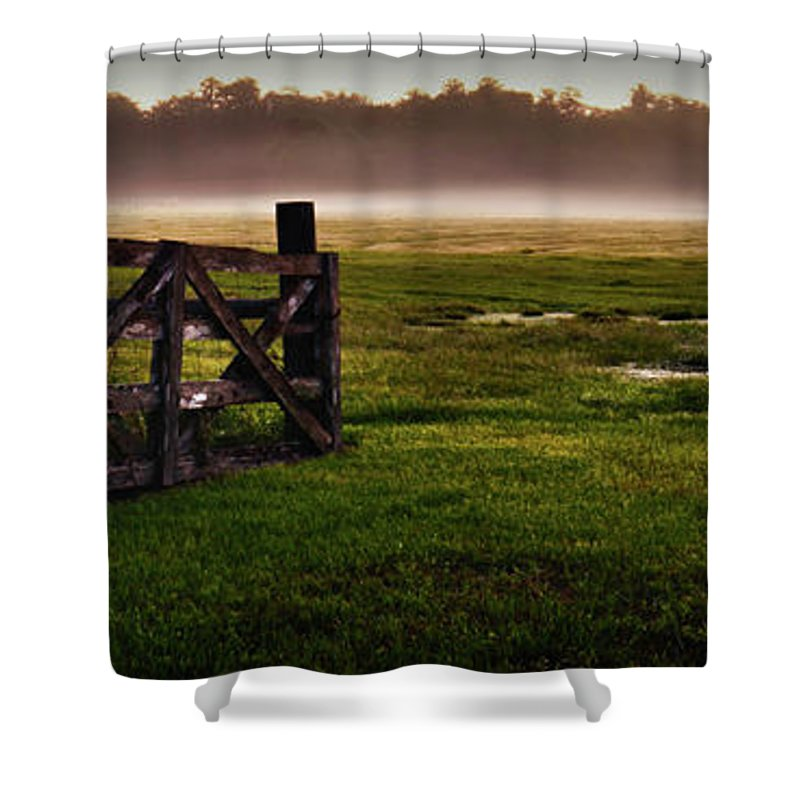 Ranch Shower Curtain featuring the photograph Sunrise At The Ranch by Charlie Grindrod