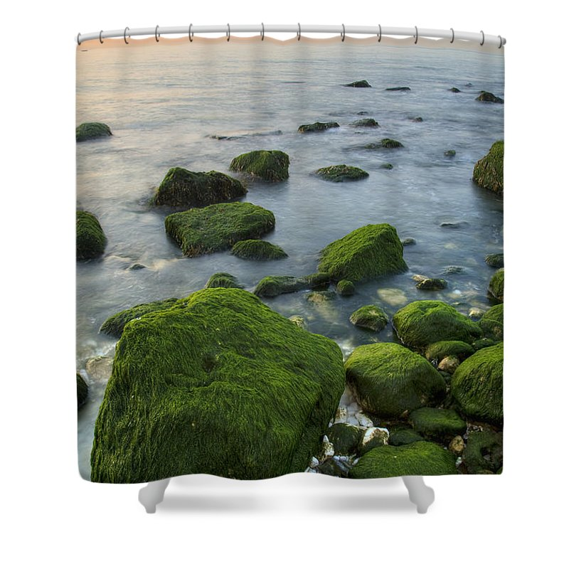 Dover Shower Curtain featuring the photograph Sunrise At The White Cliffs Of Dover by Ian Middleton