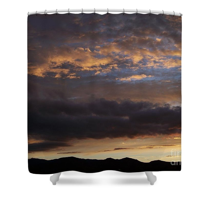 Sky Shower Curtain featuring the photograph Sunrise-before The Storm by Brian Commerford