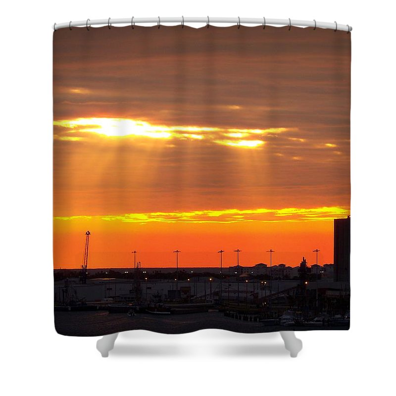 Sunrise Shower Curtain featuring the photograph Sunrise Cape Canaveral Florida by Patricia L Davidson