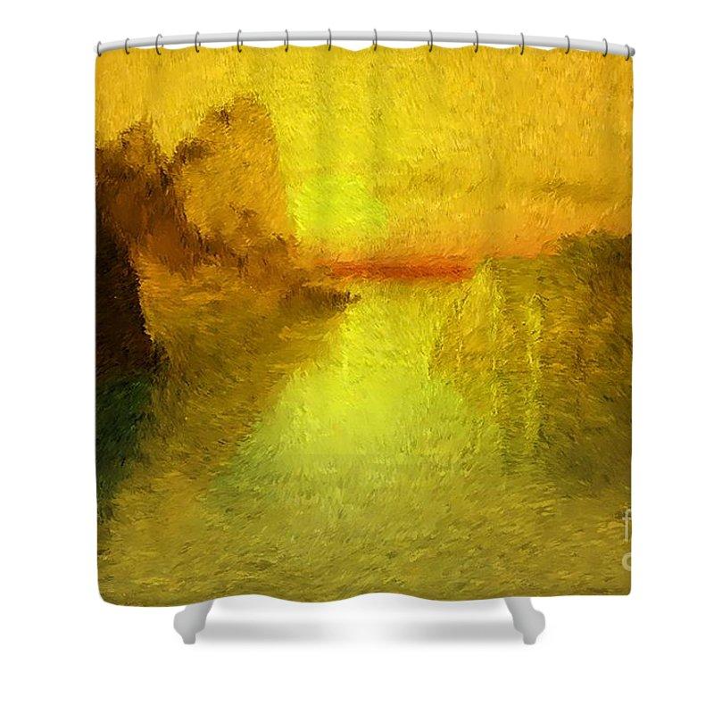 Nature Shower Curtain featuring the digital art Sunrise by David Lane