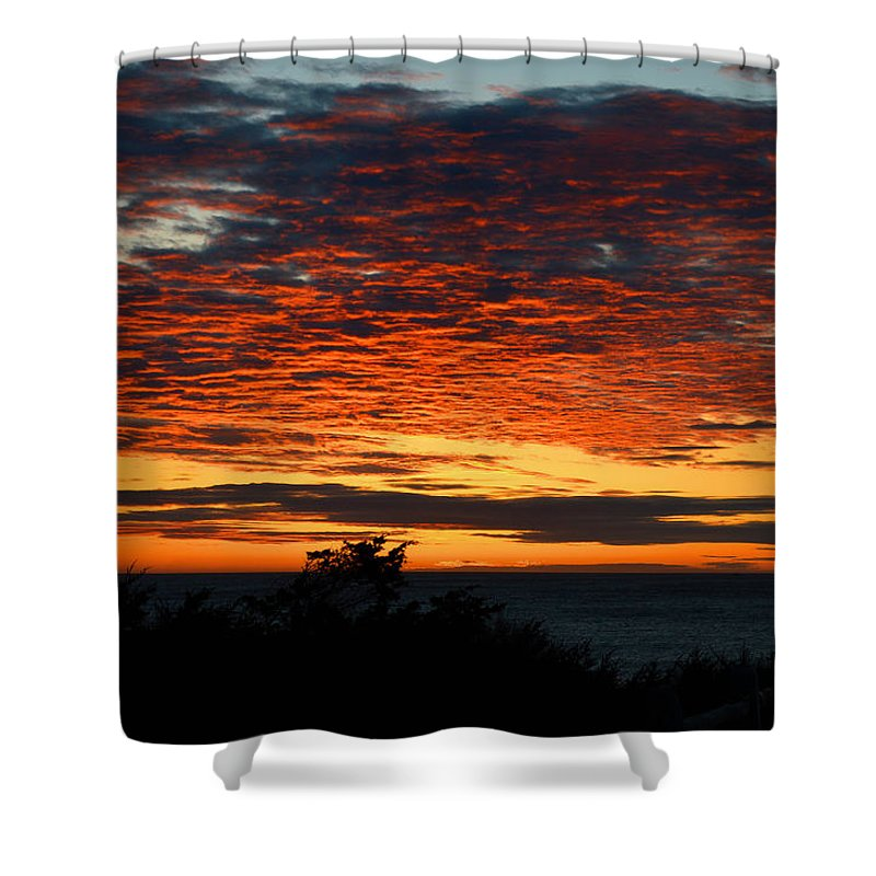 Ocean Shower Curtain featuring the photograph Sunrise Drama By The Sea by Dianne Cowen