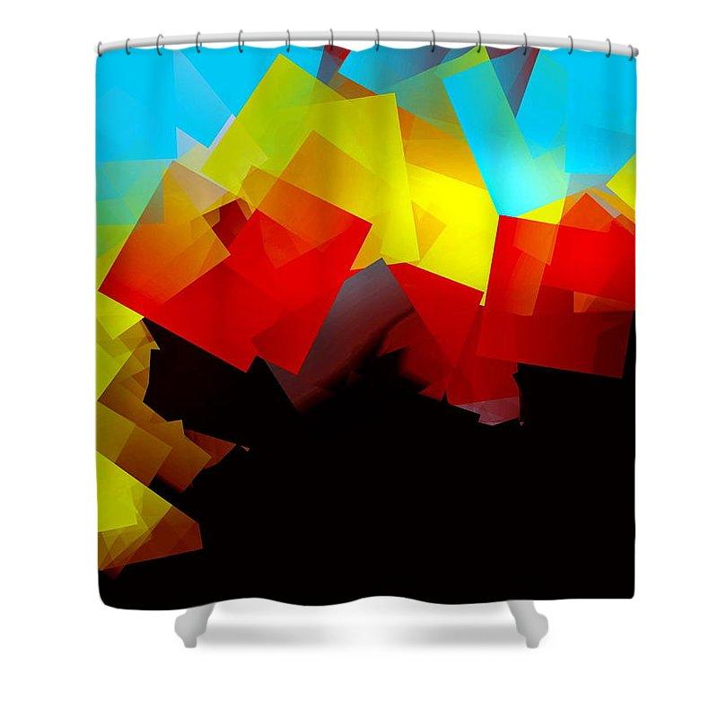 Sunrise Shower Curtain featuring the digital art Sunrise by Helmut Rottler