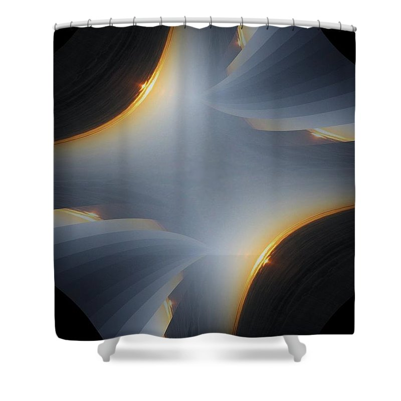 Sunrise Shower Curtain featuring the digital art Sunrise In Fractal by Tim Allen