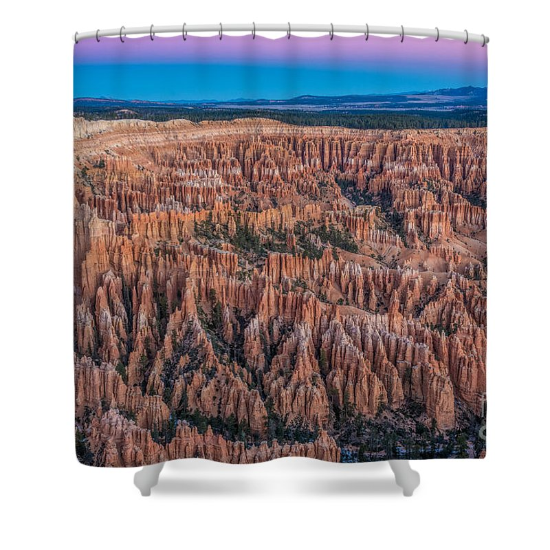 Bryce Canyon Shower Curtain featuring the photograph Sunrise Light On Bryce Canyon by Randy Jacobs