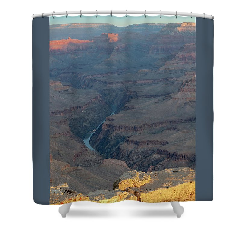 Southwest Shower Curtain featuring the photograph Sunrise On The Grand Canyon by Alan Toepfer
