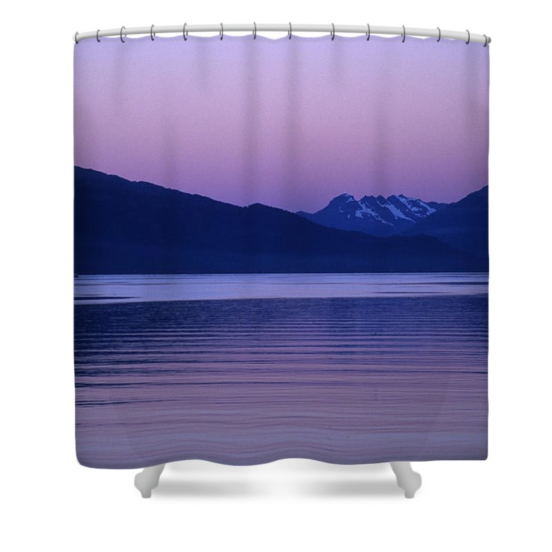 Prince William Sound Shower Curtain featuring the photograph Sunrise On The Prince William Sound by Stacy Gold