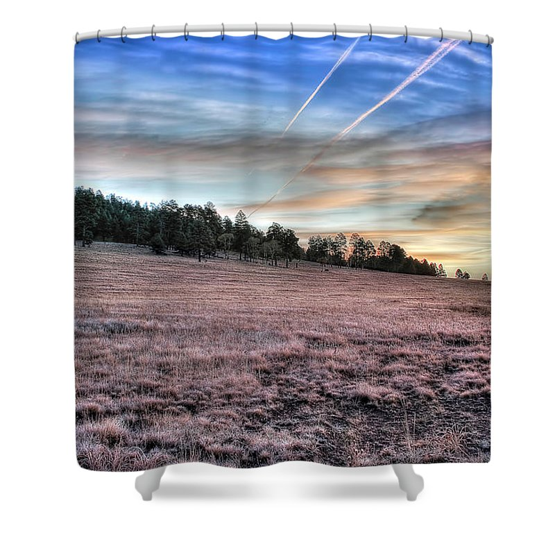 Arizona Shower Curtain featuring the photograph Sunrise Over Ft. Apache by Lynn Geoffroy
