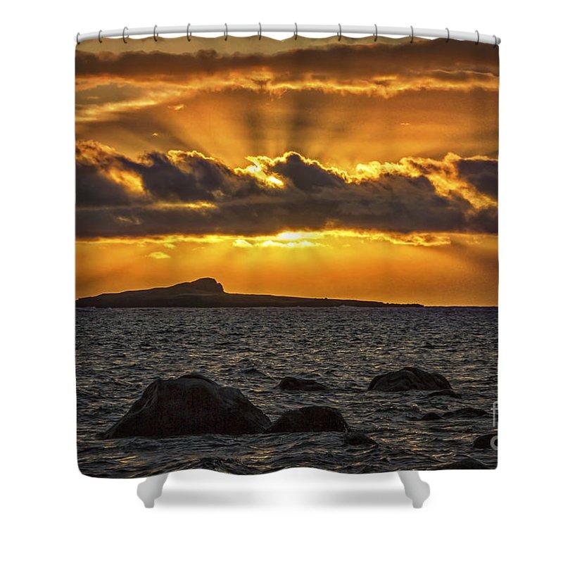 Sunrise Over Rabbit Head Island Shower Curtain featuring the photograph Sunrise Over Rabbit Head Island by Mitch Shindelbower