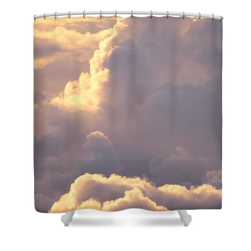 Air Art Shower Curtain featuring the photograph Sunrise With Shadows by John Hyde - Printscapes