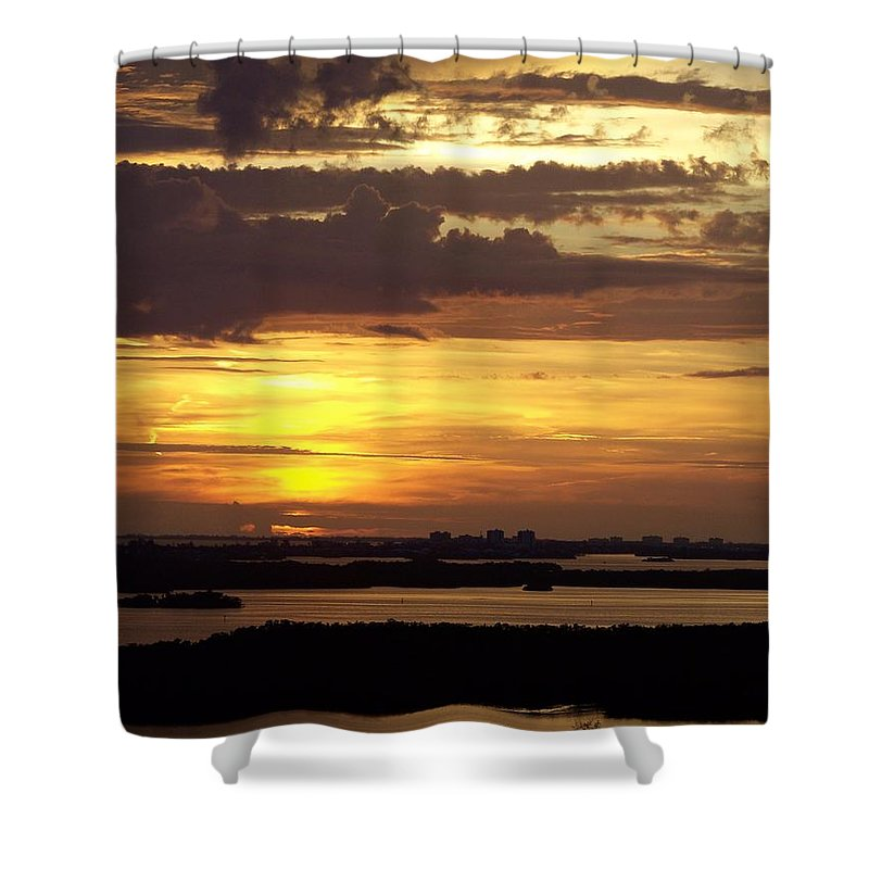 Sunset Shower Curtain featuring the photograph Sunset 0001 by Laurie Paci