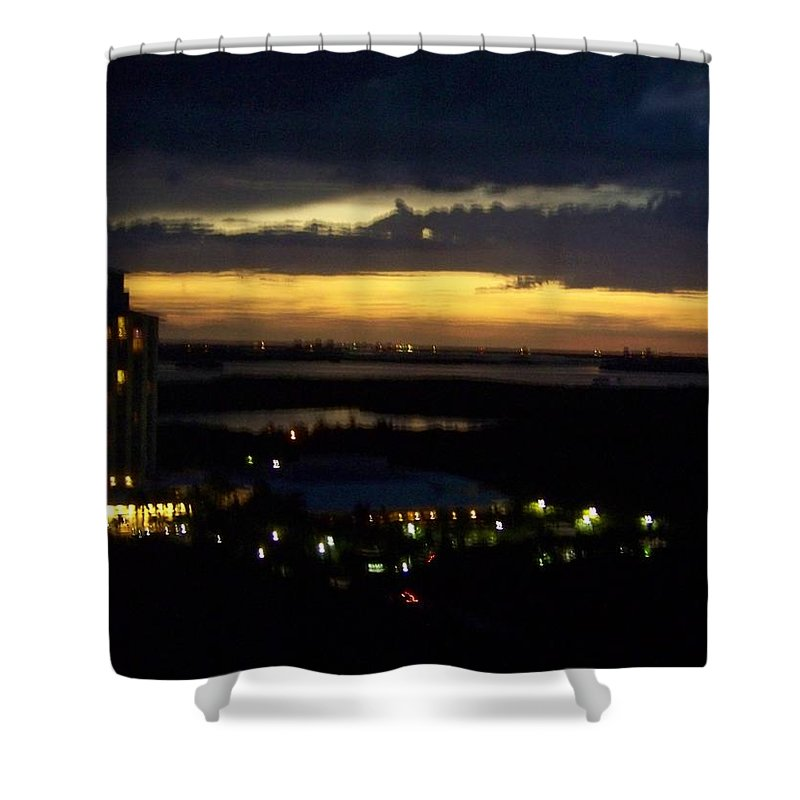 Sunset Shower Curtain featuring the photograph Sunset 0002 by Laurie Paci