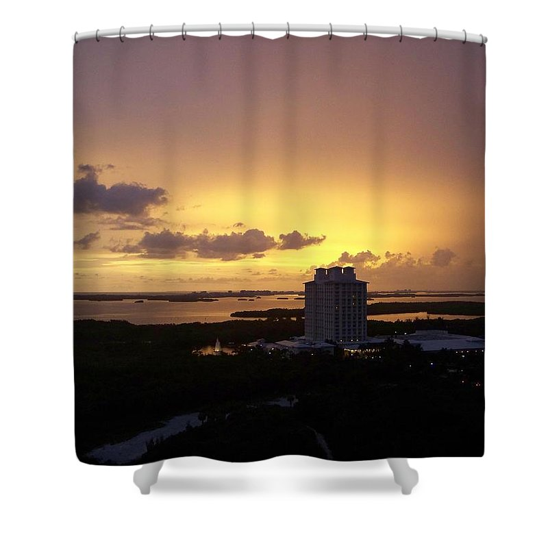 Sunset Shower Curtain featuring the photograph Sunset 0003 by Laurie Paci