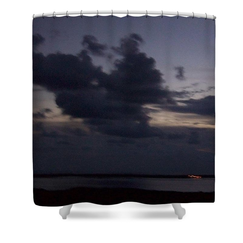 Sunset Over Estero Shower Curtain featuring the photograph Sunset 0005 by Laurie Paci
