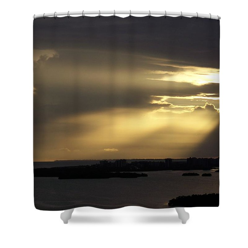 Sunset Over Estero Shower Curtain featuring the photograph Sunset 0006 by Laurie Paci
