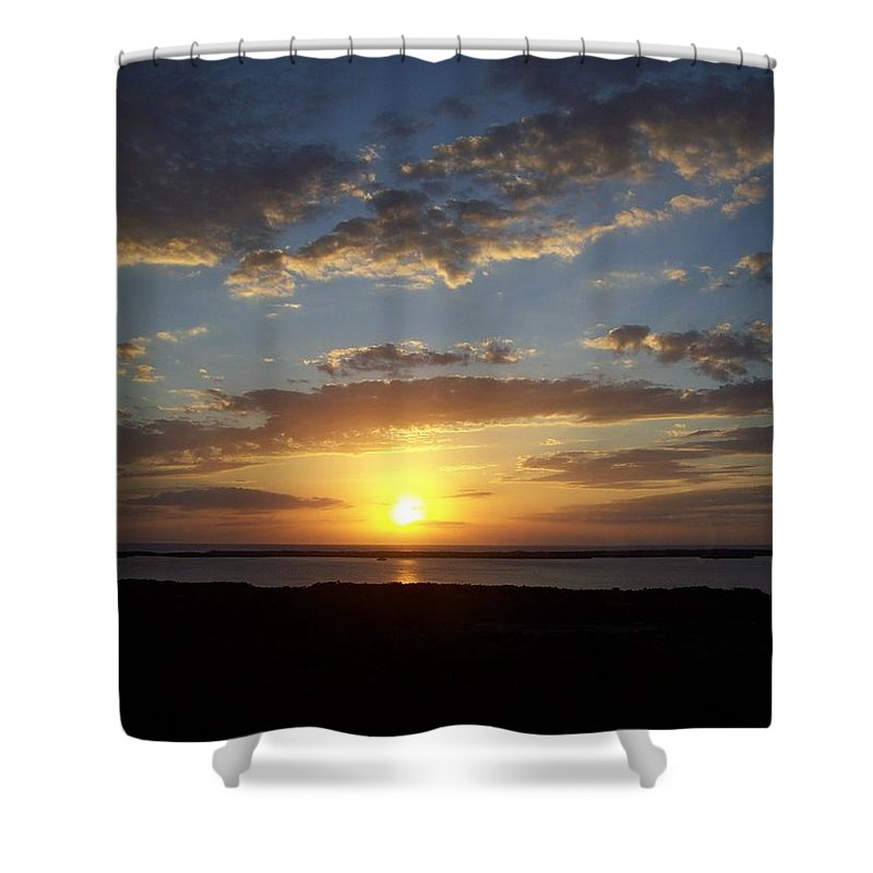 Sunset Shower Curtain featuring the photograph Sunset 0007 by Laurie Paci
