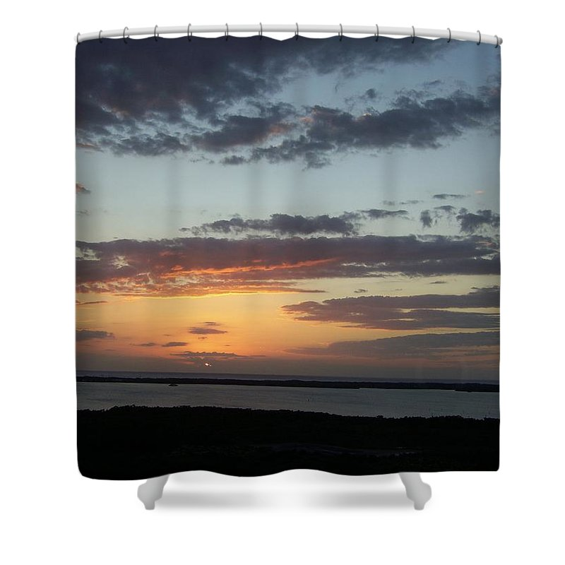 Sunset Shower Curtain featuring the photograph Sunset 0008 by Laurie Paci