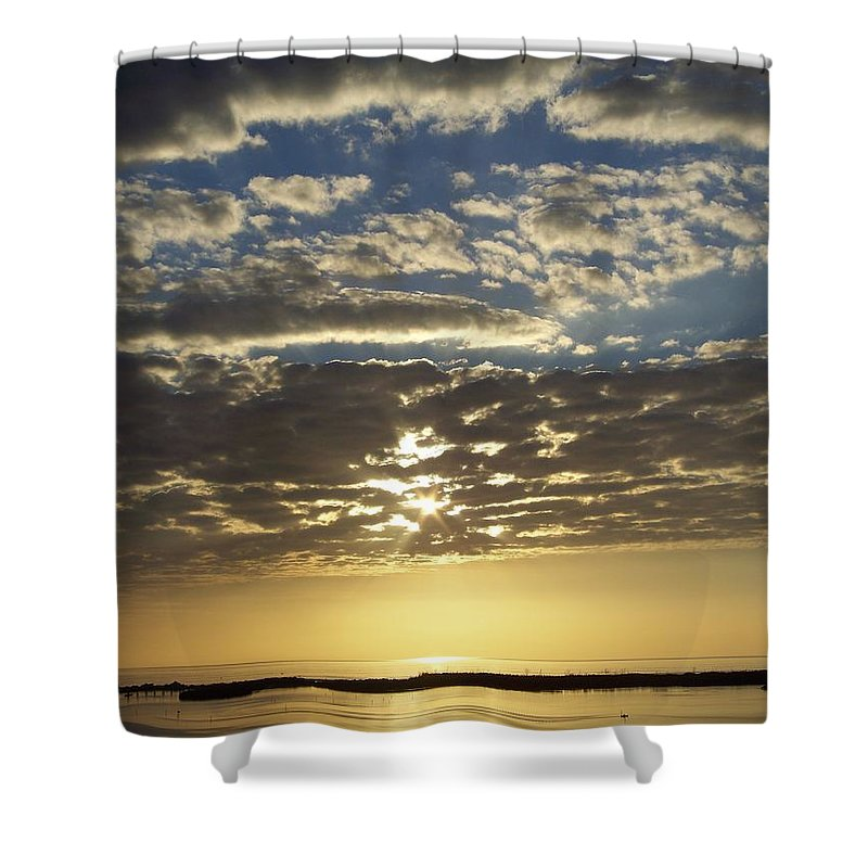 Sunset Shower Curtain featuring the photograph Sunset 0011 by Laurie Paci