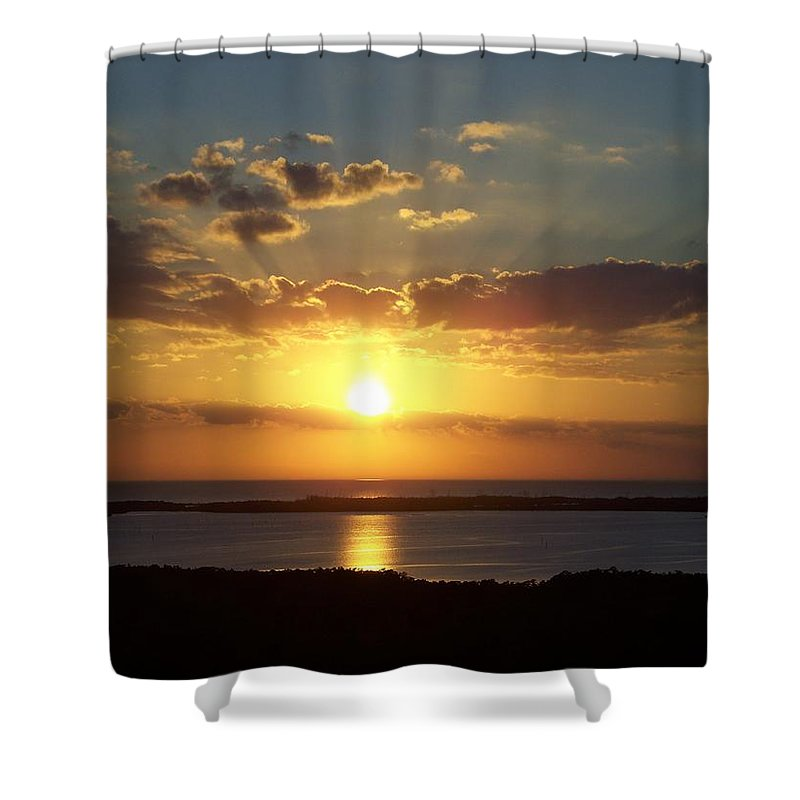 Sunset Shower Curtain featuring the photograph Sunset 0012 by Laurie Paci