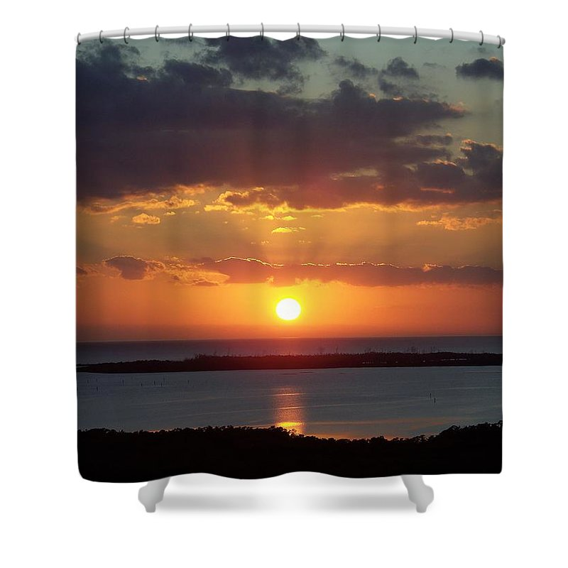 Sunset Shower Curtain featuring the photograph Sunset 0013 by Laurie Paci