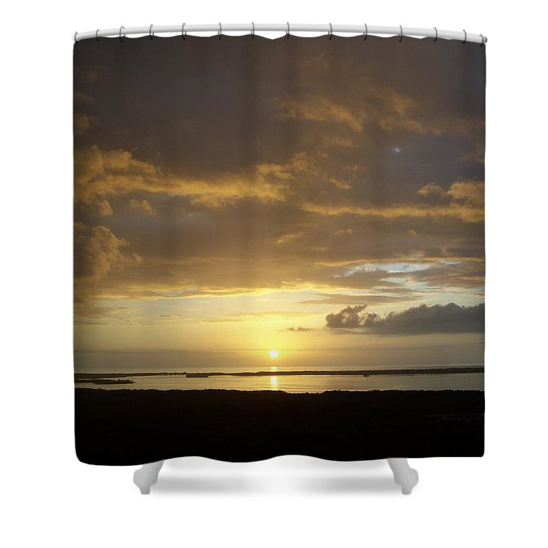 Sunset Shower Curtain featuring the photograph Sunset 0018 by Laurie Paci