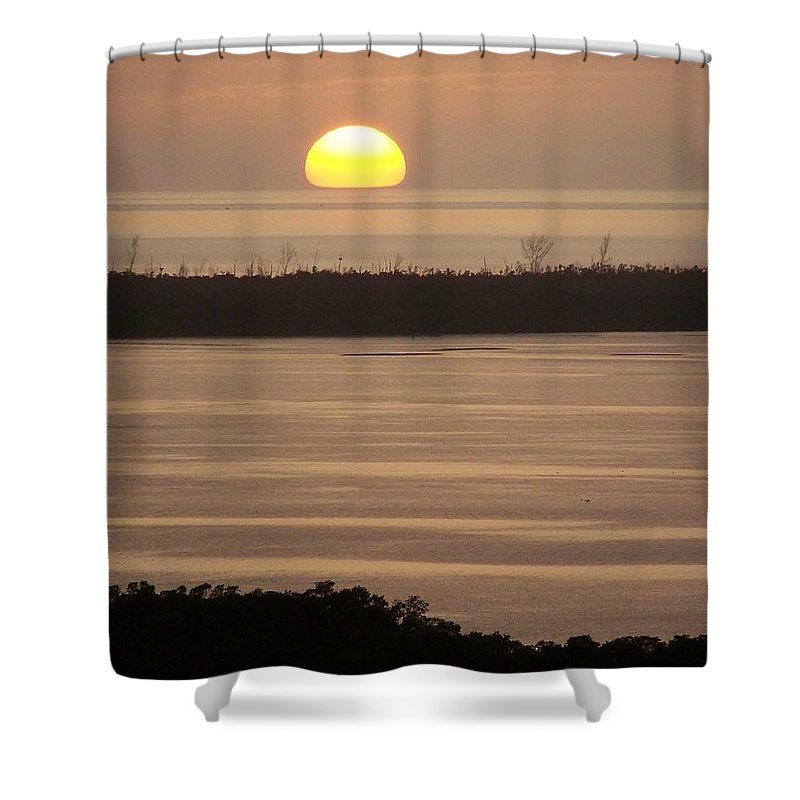 Sunset Shower Curtain featuring the photograph Sunset 0022 by Laurie Paci