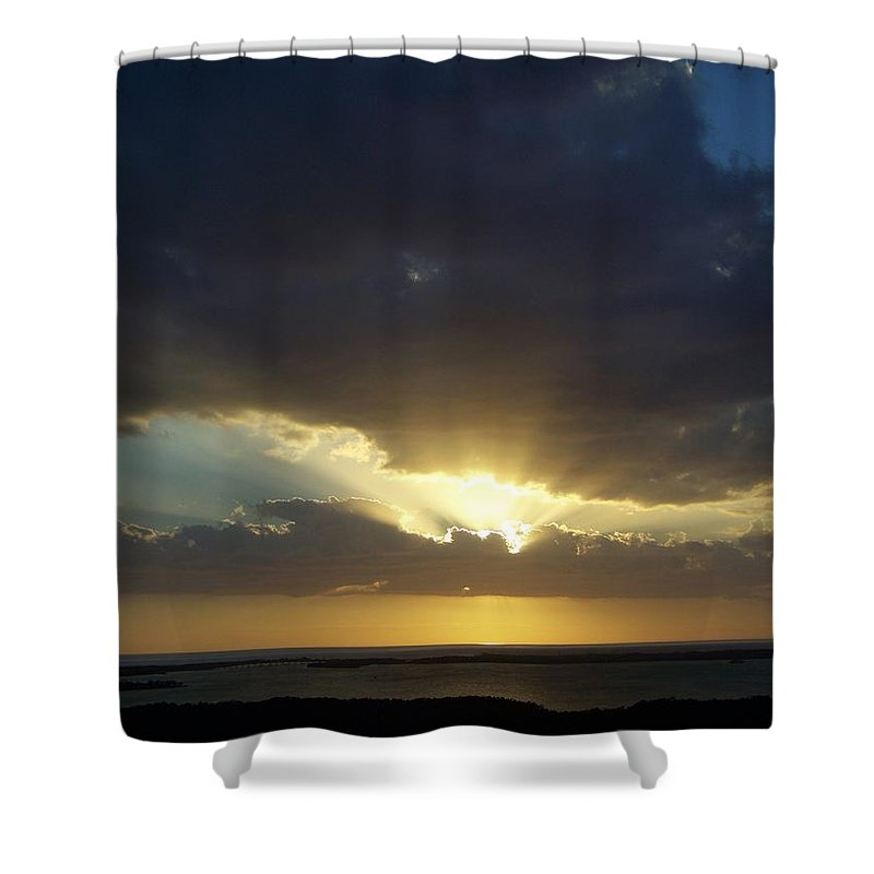 Sunset Shower Curtain featuring the photograph Sunset 0023 by Laurie Paci