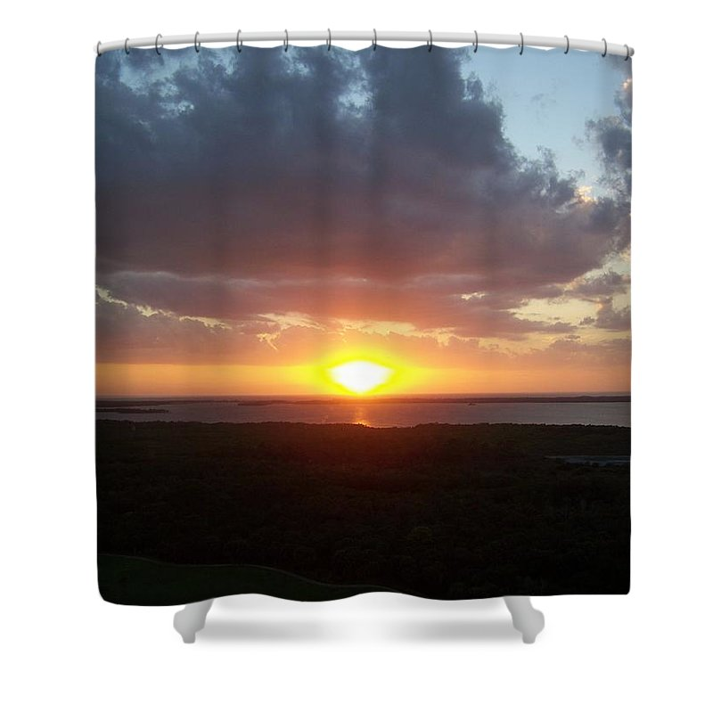 Sunset Shower Curtain featuring the photograph Sunset 0026 by Laurie Paci