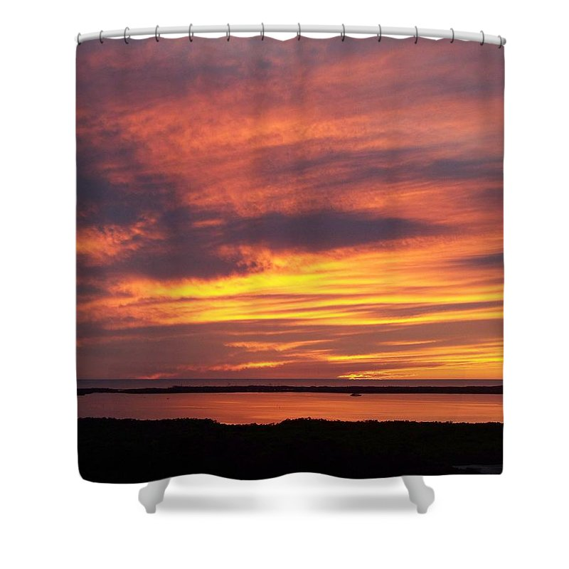 Sunset Shower Curtain featuring the photograph Sunset 0037 by Laurie Paci