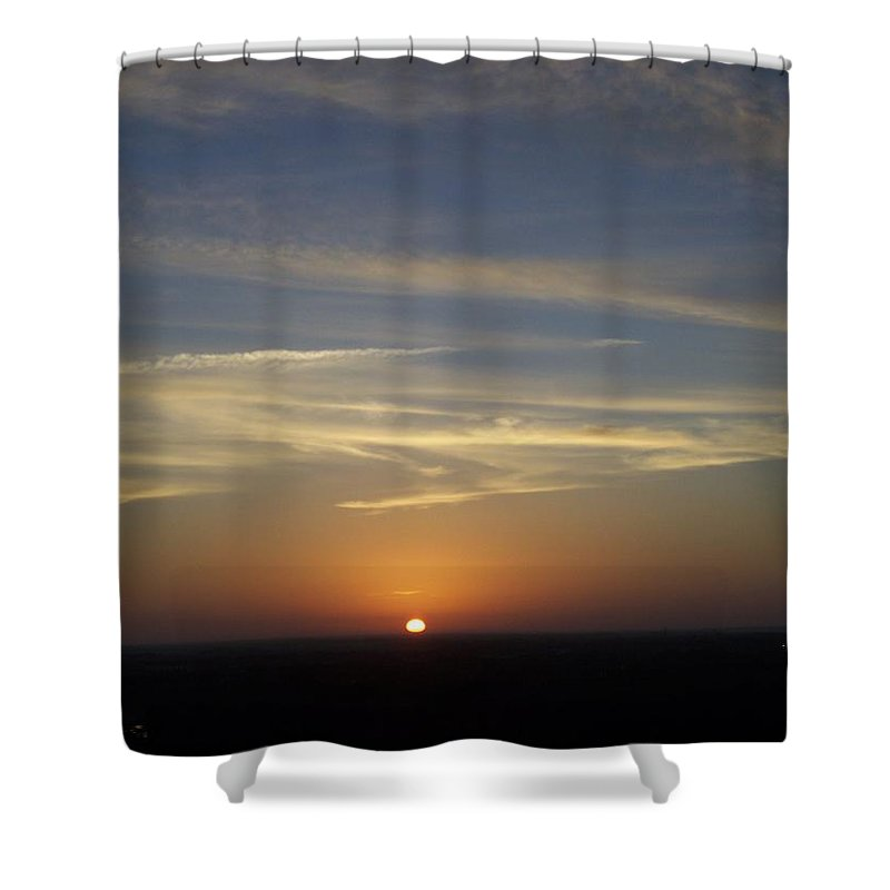 Sunset Shower Curtain featuring the photograph Sunset 0040 by Laurie Paci