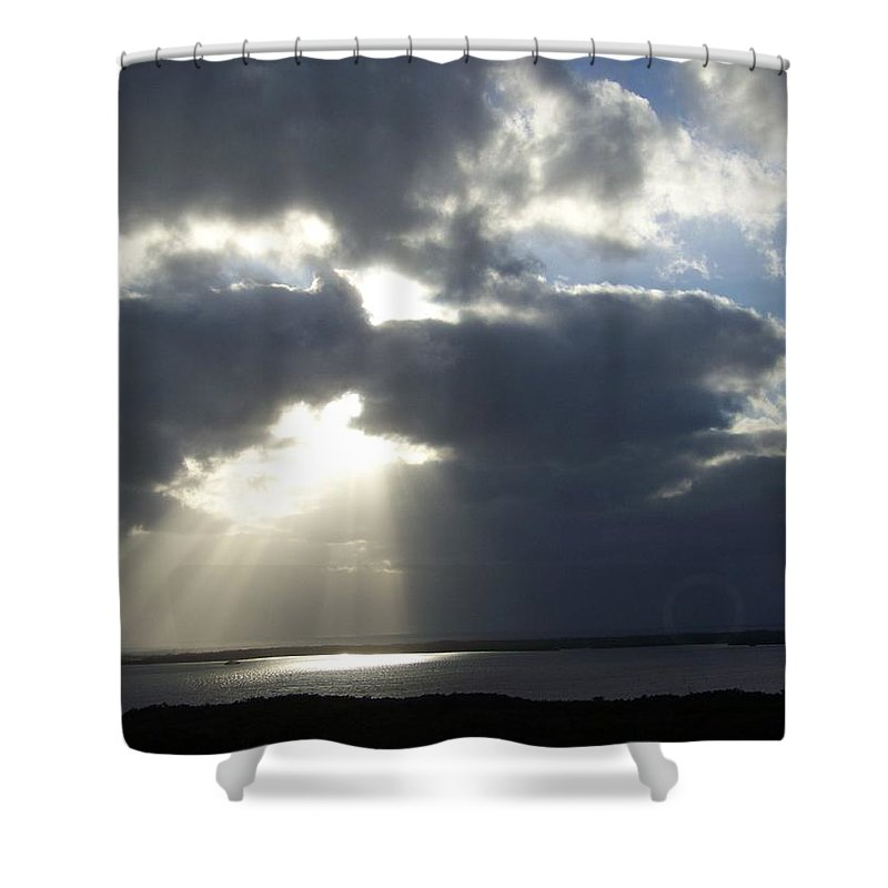 Sunset Shower Curtain featuring the photograph Sunset 0041 by Laurie Paci