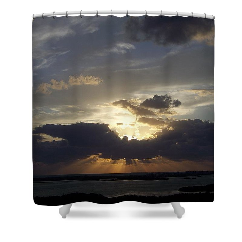 Sunset Shower Curtain featuring the photograph Sunset 0044 by Laurie Paci