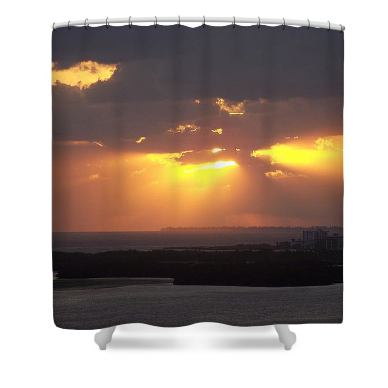 Sunset Shower Curtain featuring the photograph Sunset 0047 by Laurie Paci