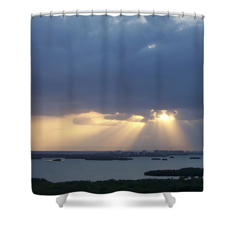 Sunset Shower Curtain featuring the photograph Sunset 0048 by Laurie Paci