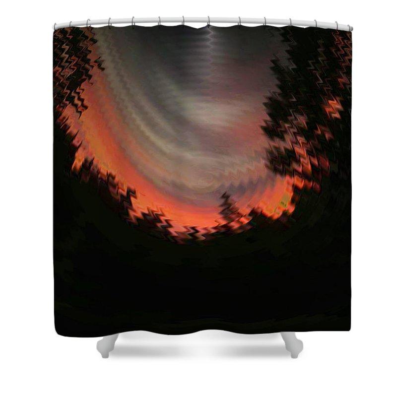 Sunset Shower Curtain featuring the digital art Sunset 3 by Tim Allen