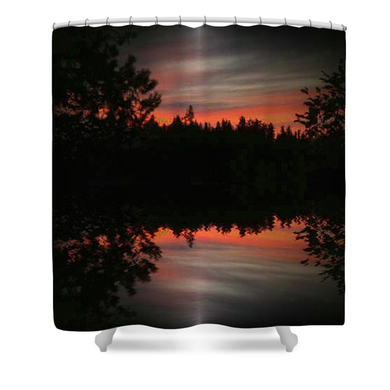 Sunset Shower Curtain featuring the photograph Sunset 4 by Tim Allen