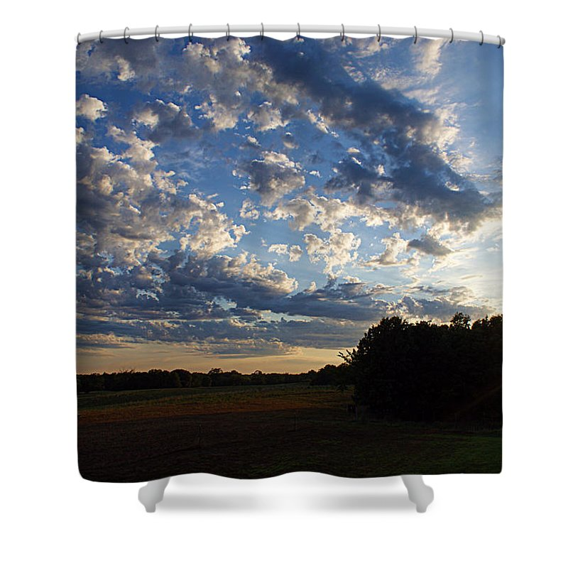 Clouds Shower Curtain featuring the photograph Sunset After The Storm by Cricket Hackmann